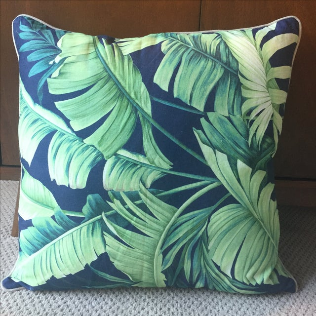 Palm Print Regency-Style Pillow Covers - A Pair - Image 3 of 5