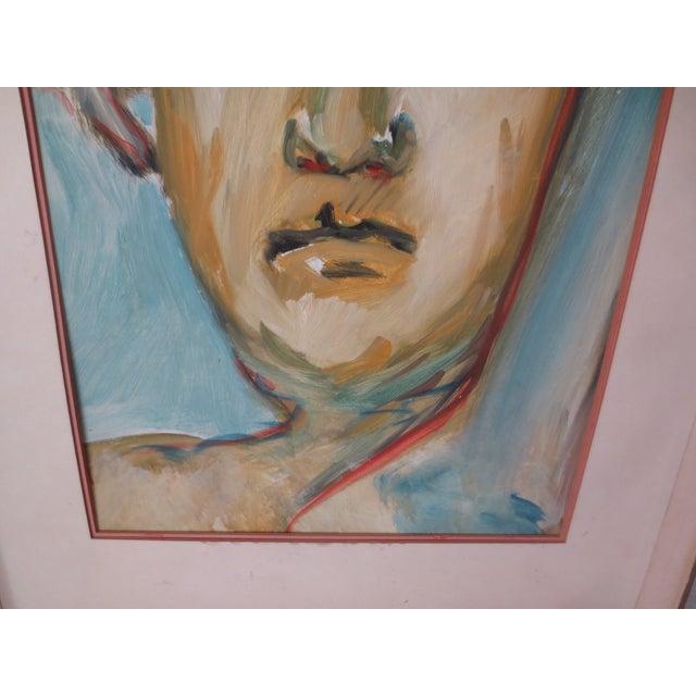 Circa 1970 Modernist Portrait Painting - Image 6 of 7