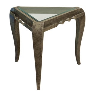 Continental Glass & Metal Side Table
