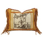Image of Designer Brunschwig Fils Toile Silk Accent Pillow