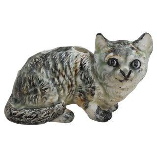Petite Majolica Massier Cat Vase