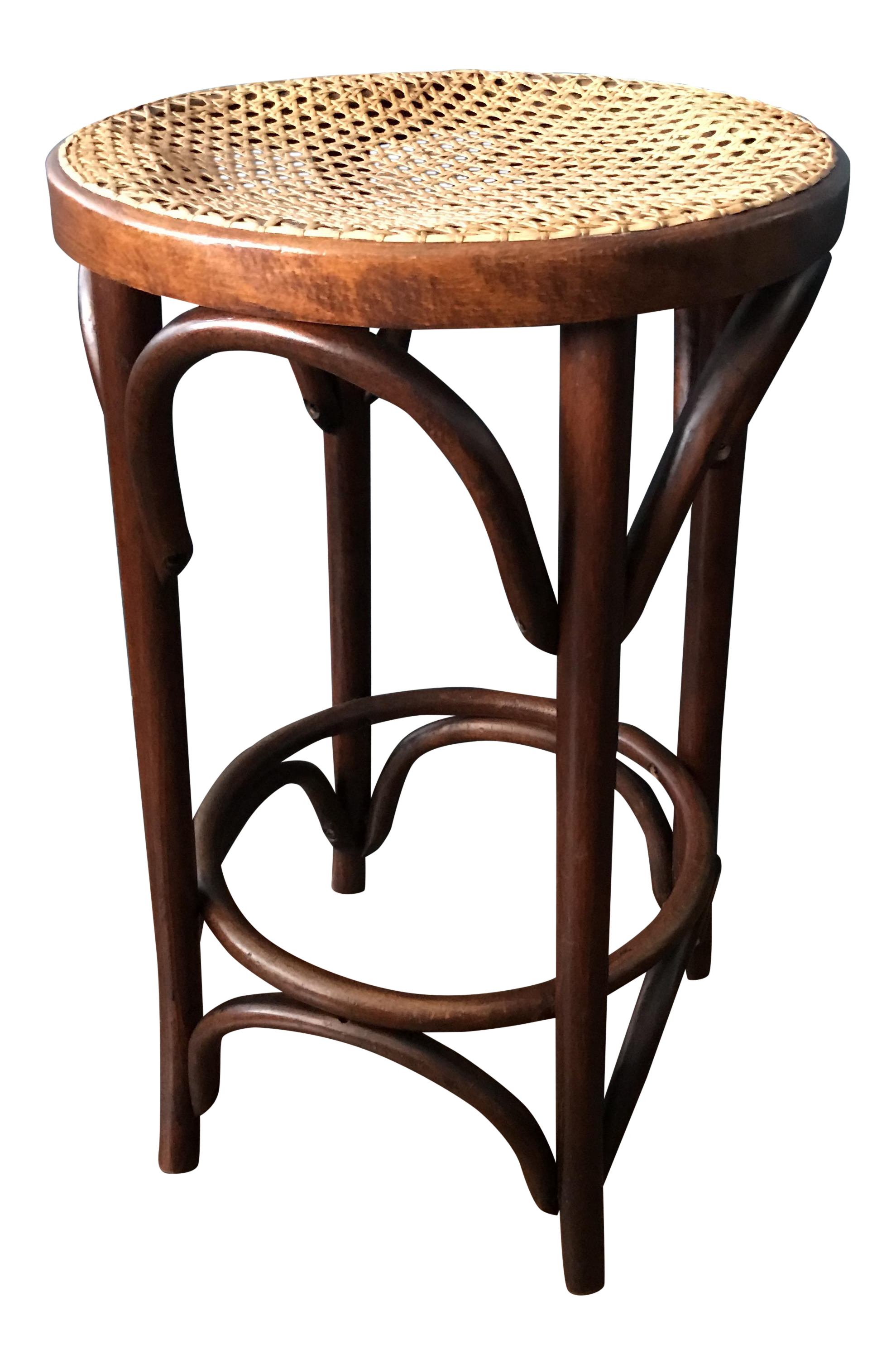 Bentwood Caned Counter Stool Chairish