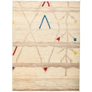 """New Moroccan Hand-Knotted Rug - 5'1"""" x 6'10"""""""