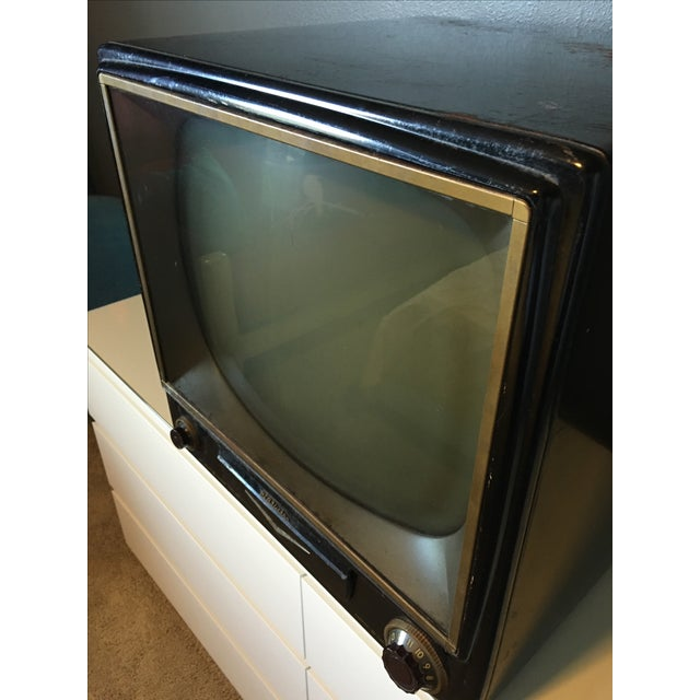 1950s Rca Television in Rare Black Metal Case - Image 8 of 8