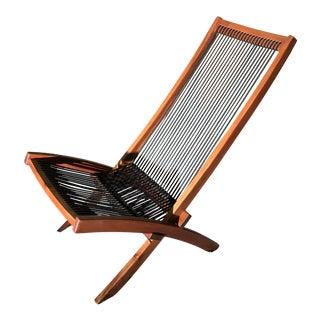 Mid Century Modern Norwegian Teak Foldable Chair