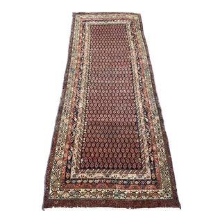 "Antique Kurdish Senneh Rug - 4'2"" x 10'"