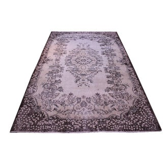 """Vintage Handmade Faded Over-Dyed Rug - 5'8"""" x 9'2"""""""