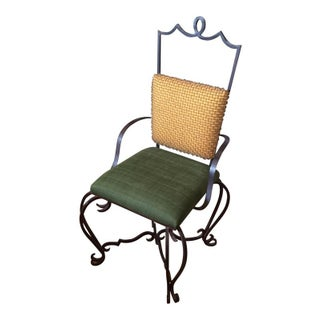 Transitional Wrought Iron Chair