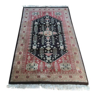 "Persian Wool & Silk Rug - 3'2"" x 5'3"""