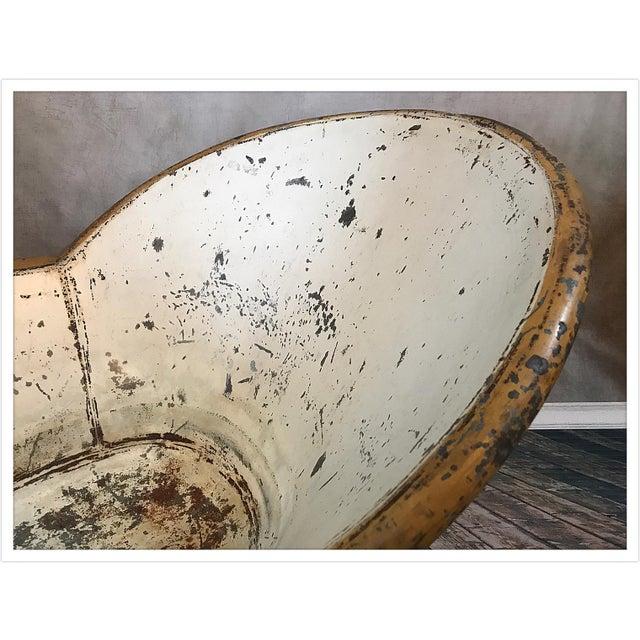 Antique French Zinc Bathtub - Image 7 of 11