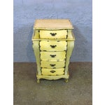 Image of Short Yellow Chest of Drawers