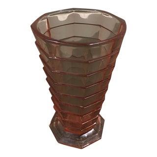 Vintage Pink Glass Flower Vase