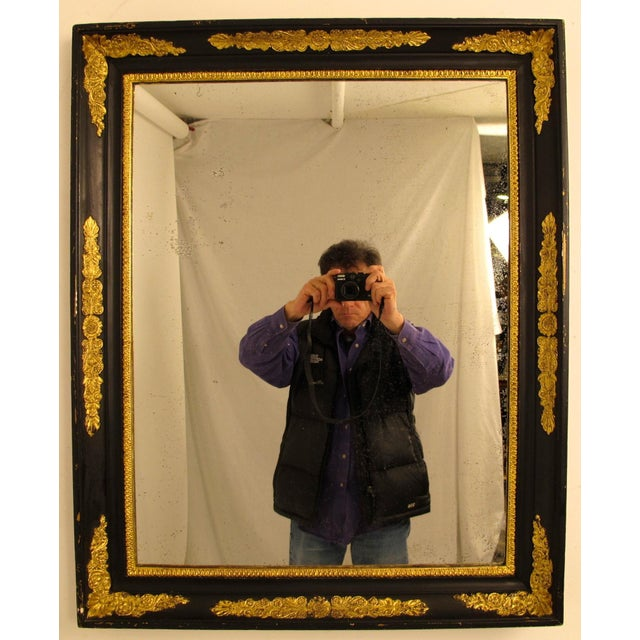 Black & Gold Empire Mirror - Image 3 of 6