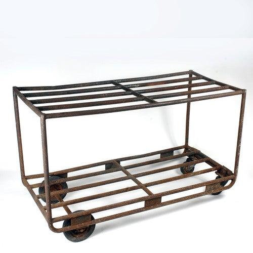 Vintage European Industrial Rolling Cart - Image 2 of 3