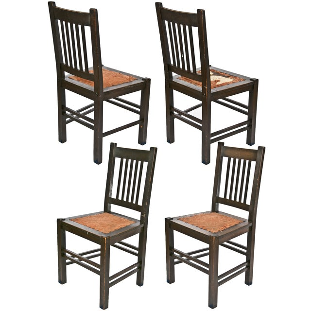 Gustav Stickley Quaint Dining Chairs - Set of 4 - Image 3 of 7