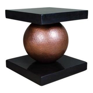 Copper Sphere Table w/ Square Lacquer Top