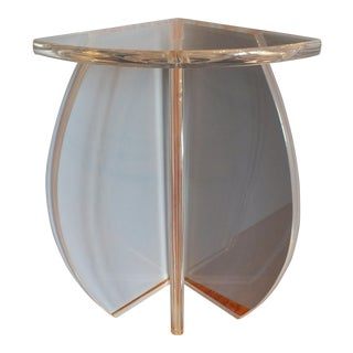 Lucite Accent Corner Table