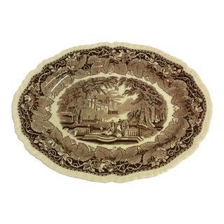 Royal Meakin Antique Brown Transfwerware Platter