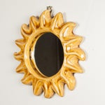 Image of 1960s Ceramic Frame Sunburst Mirror