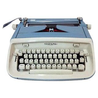 Vintage Blue Royal Safari Typewriter