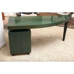 Image of 1980s Italian Green Curved Front Saporiti Desk