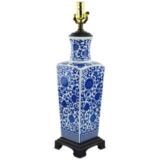 Blue & White Chinoiserie Vase Lamp