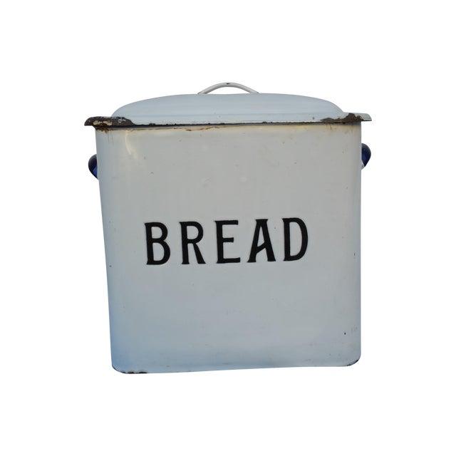 English 30's Enamel Bread Bin - Image 1 of 5