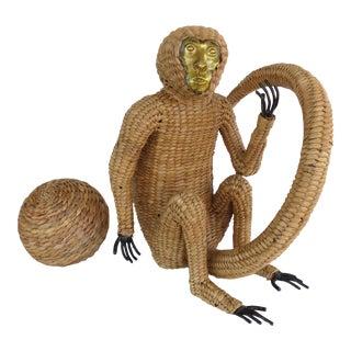 1970s Mario Lopez Torres Wicker Monkey