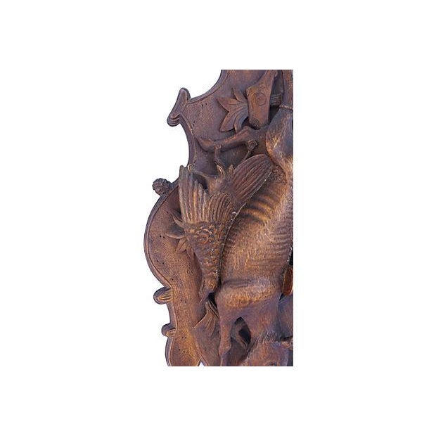 Antique Hand-Carved Hunting Wall Plaque - Image 5 of 6