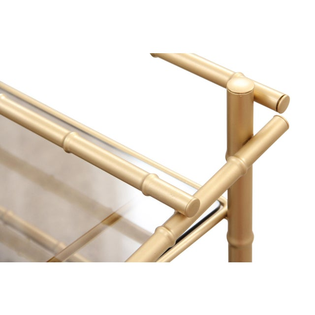 Chinoiserie Faux Bamboo Bar Cart - Image 3 of 7