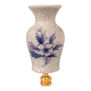 Blue & White Chinoiserie Miniature Vase Lamp Finial