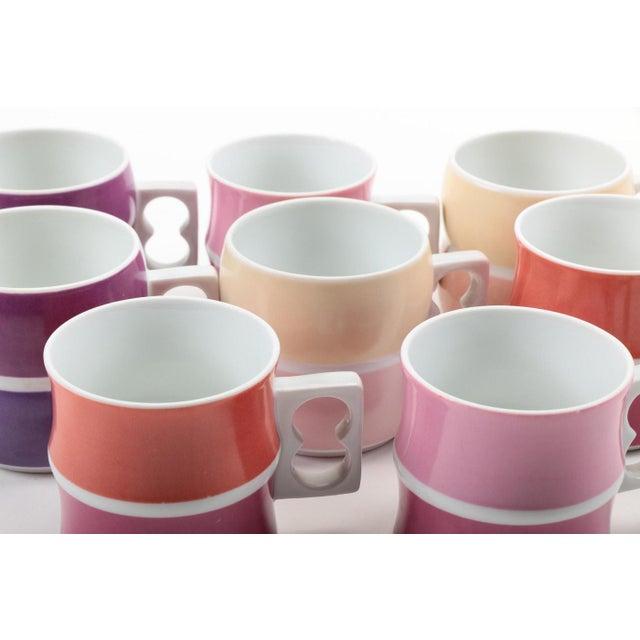 Vintage Block Chromatics Tea Set - Set of 12 - Image 4 of 10