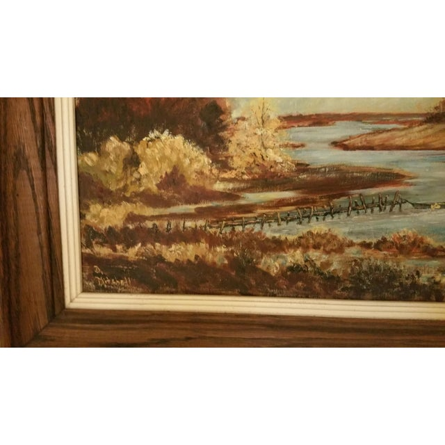 Mid-Century Lake Champlain Landscape Oil Painting - Image 4 of 5