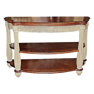 Cream Painted British Colonial Console