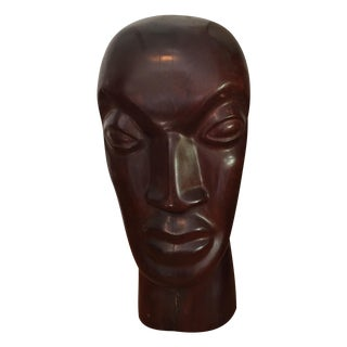 Vintage Hand Carved Ironwood Bust Sculpture