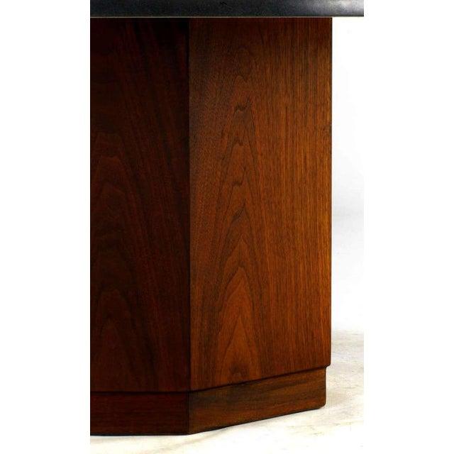 Image of Fred Kemp Walnut & Slate Coffee Table