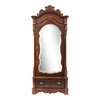 Pulaski Baker Street Armoire Mirror Front Cherry Dresser Wardrobe