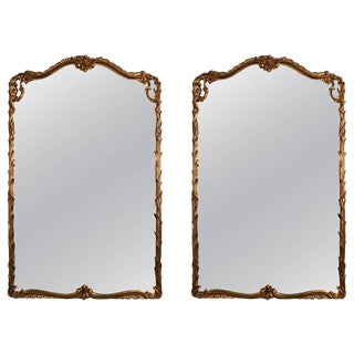 Giltwood Carved Wall Console Mirrors - A Pair