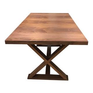 Walnut Veneer Extension Dining Table
