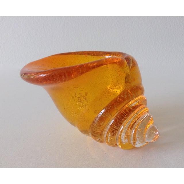 Alfredo Barbini Italian Murano Cognac Shell - Image 7 of 11