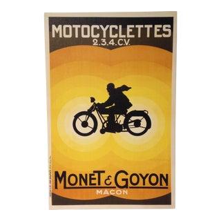 Vintage Inspired Motorcycle Print