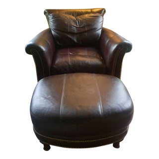 Ferguson Copeland Surrey Leather Chair & Ottoman