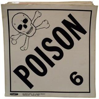 Vintage Industrial Poison Hazard Warning Sticker