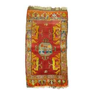 Antique Colorful Yastik Rug, 1'8'' x 3'