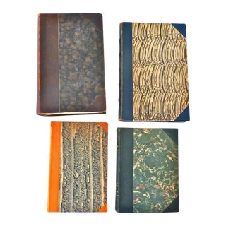 Leather-Bound Antique & Vintage Books - Set of 4