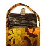 Image of Vintage Velvet Brocade Handbag Purse