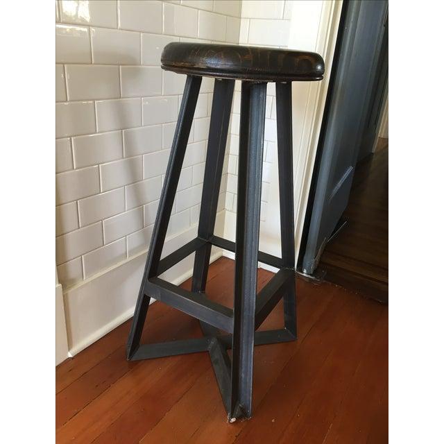 Cleveland Art Industrial Loft Style Bar Stools - Set of 3 - Image 3 of 6