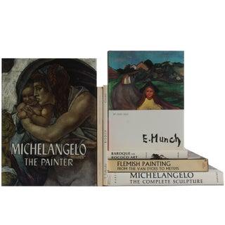 European Art In White Books - Set of 7