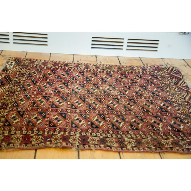 "Antique Turkmen Square Rug - 2'8"" X 3'1"" - Image 2 of 9"