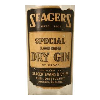 c.1930 Large English Gin Bar Display Bottle